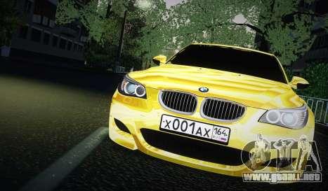 BMW M5 Gold para GTA San Andreas vista posterior izquierda