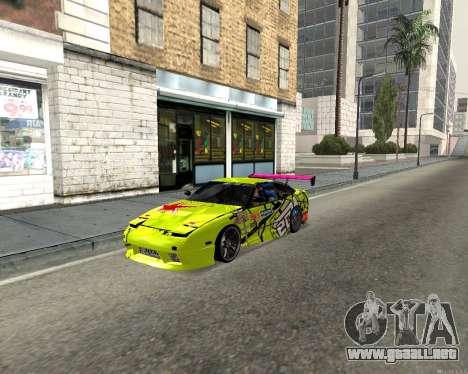 Nissan 240sx Drift para GTA San Andreas left
