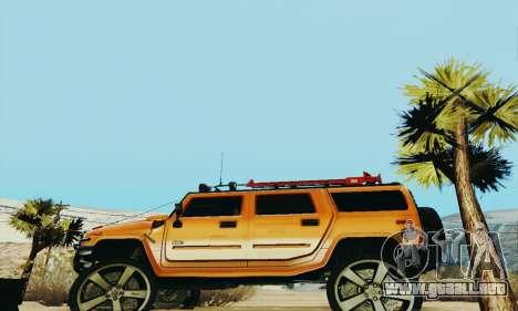 Hummer H2 Monster para GTA San Andreas left