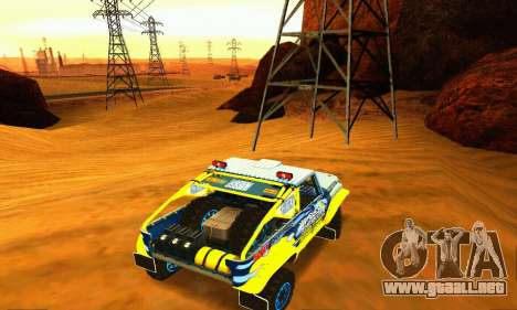 Rally de UAZ 31514 para visión interna GTA San Andreas