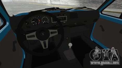 Volkswagen Golf MK1 GTI Update v2 para GTA 4 vista interior