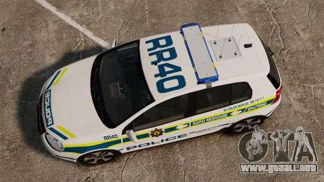 Volkswagen Golf 5 GTI Police v2.0 [ELS] para GTA 4 visión correcta