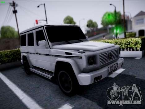 Mercedes-Benz G500 para visión interna GTA San Andreas