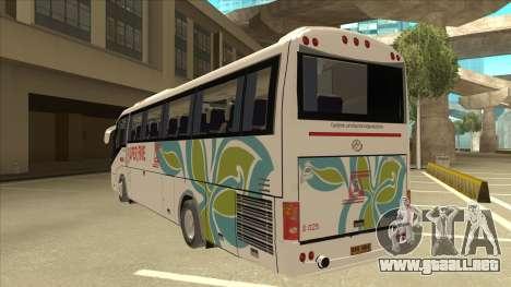 Higer KLQ6129QE - Super Five Transport S 025 para GTA San Andreas vista hacia atrás