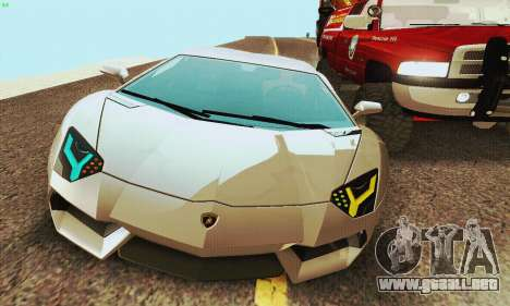 Lamborghini Aventador LP700 para la visión correcta GTA San Andreas