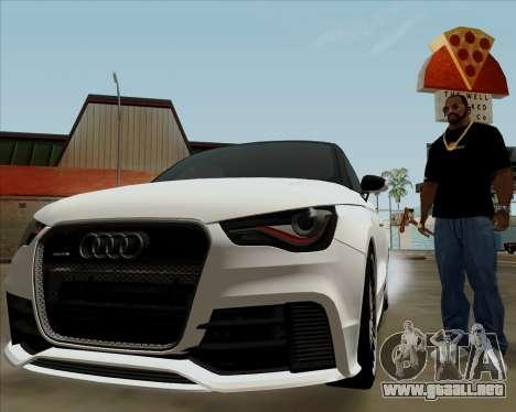 Audi A1 Clubsport Quattro para vista lateral GTA San Andreas