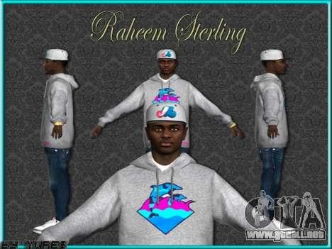 Raheem Sterling skin para GTA San Andreas quinta pantalla