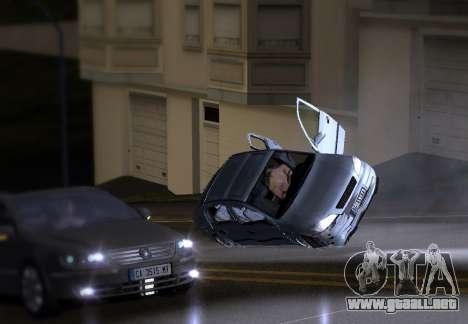 Opel Astra G para GTA San Andreas vista hacia atrás