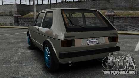 Volkswagen Golf MK1 GTI Update v2 para GTA 4 Vista posterior izquierda