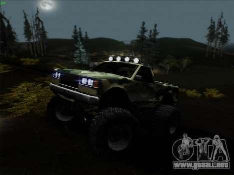 Camuflaje para Monster para GTA San Andreas vista hacia atrás