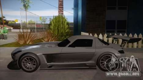 Mercedes-Benz SLS (AMG) GT3 para GTA San Andreas vista posterior izquierda