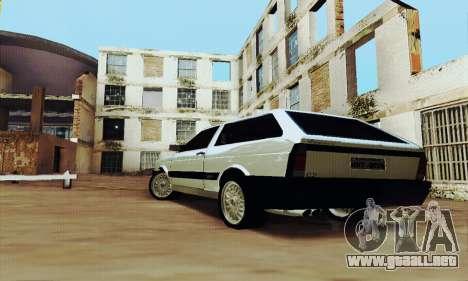VW Parati GLS 1988 para GTA San Andreas vista posterior izquierda