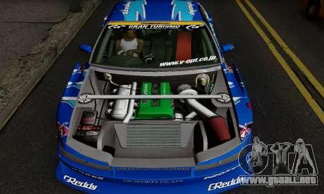Nissan Silvia S15 Toyo Drift para GTA San Andreas vista posterior izquierda