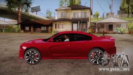 Dodge Charger SRT8 2012 para GTA San Andreas left