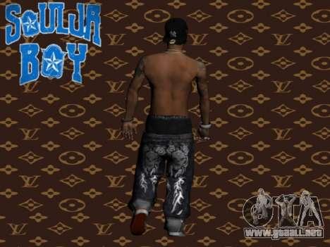 Soulja Boy skin para GTA San Andreas segunda pantalla