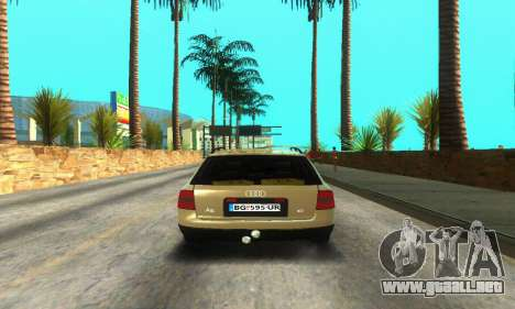 Audi A6 (C5) Avant para GTA San Andreas vista hacia atrás