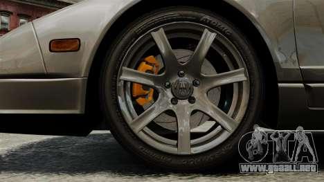 Acura NSX para GTA 4 vista hacia atrás