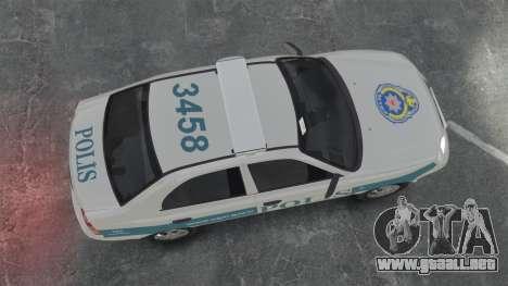 Hyundai Accent Admire Turkish Police [ELS] para GTA 4 visión correcta