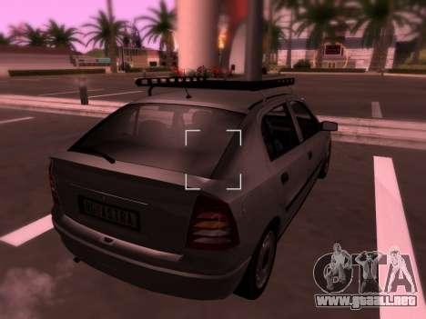 Opel Astra G para GTA San Andreas interior