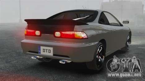 Acura Integra Type-R Domo Kun para GTA 4 Vista posterior izquierda