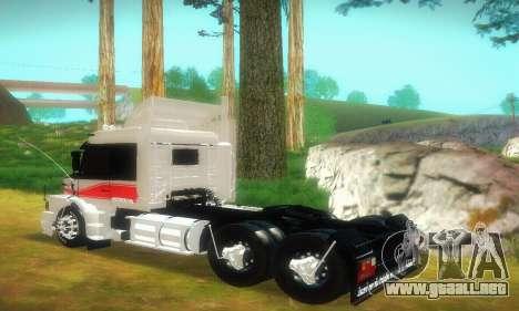 TopLine Scania 113 h 360 para GTA San Andreas vista posterior izquierda