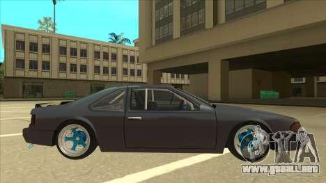 Fortune Drift para GTA San Andreas vista posterior izquierda