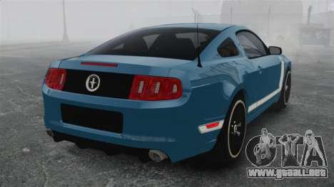 Ford Mustang BOSS 2013 para GTA 4 Vista posterior izquierda