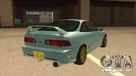 Honda Integra JDM Version para la visión correcta GTA San Andreas