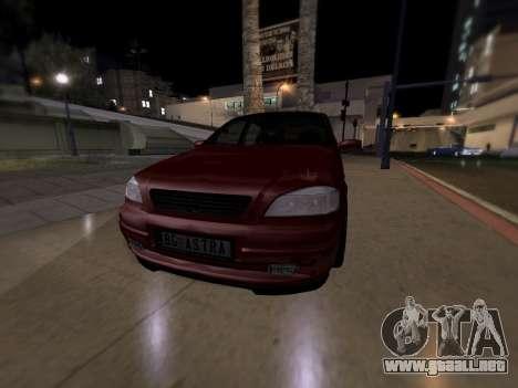 Opel Astra G para GTA San Andreas vista posterior izquierda