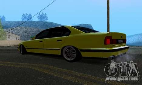 BMW M5 E34 IVLM v2.0.2 para GTA San Andreas vista posterior izquierda