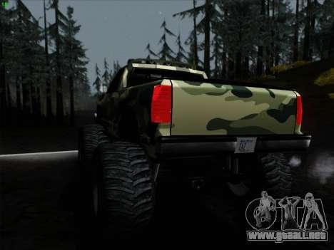 Camuflaje para Monster para la visión correcta GTA San Andreas