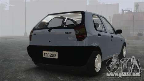 Fiat Palio EDX 1997 para GTA 4 Vista posterior izquierda