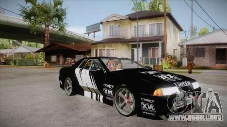 Elegy Touge Tune para GTA San Andreas vista hacia atrás