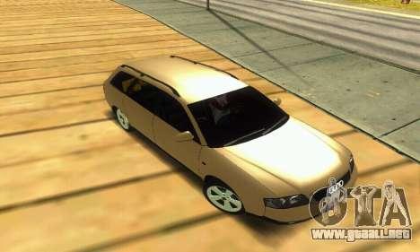 Audi A6 (C5) Avant para la vista superior GTA San Andreas