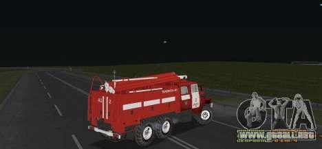 Ural 4320 bombero para la visión correcta GTA San Andreas