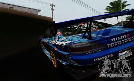 Nissan Silvia S15 Toyo Drift para la visión correcta GTA San Andreas