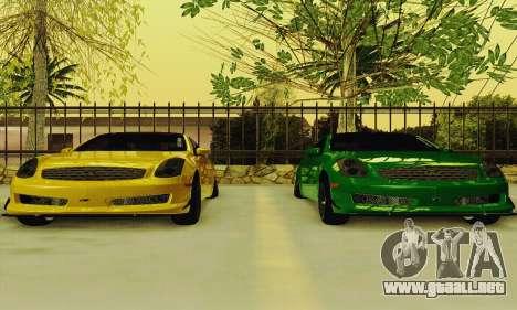 Infiniti G35 Hellaflush para visión interna GTA San Andreas