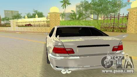 BMW M3 E46 Hamann para GTA Vice City vista posterior