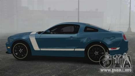 Ford Mustang BOSS 2013 para GTA 4 left