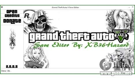 Grand Theft Auto V Save Editor by XB36Hazard para GTA 5