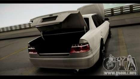 Toyota Chaser Tourer V para GTA San Andreas vista hacia atrás