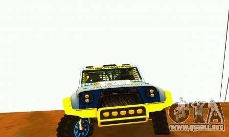 Rally de UAZ 31514 para GTA San Andreas vista posterior izquierda