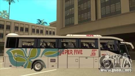 Higer KLQ6129QE - Super Five Transport S 025 para GTA San Andreas vista posterior izquierda