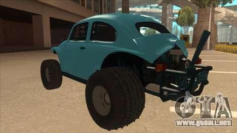 Volkswagen Baja Buggy 1963 para GTA San Andreas vista hacia atrás