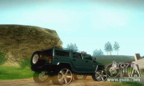 Hummer H2 Monster para GTA San Andreas vista hacia atrás