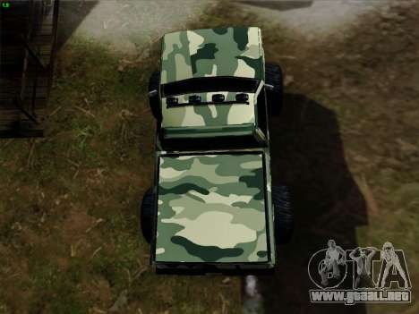 Camuflaje para Monster para la vista superior GTA San Andreas