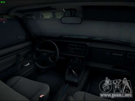 LADA 2107 Riva para visión interna GTA San Andreas