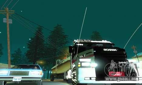 TopLine Scania 113 h 360 para visión interna GTA San Andreas