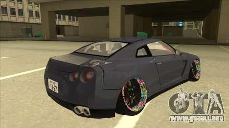 Nissan GT-R R35 Camber Killer para la visión correcta GTA San Andreas