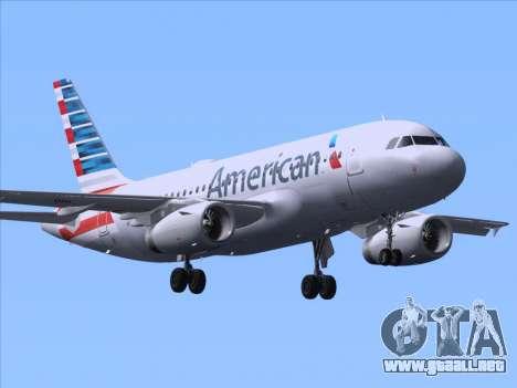 Airbus A319-112 American Airlines para GTA San Andreas vista posterior izquierda